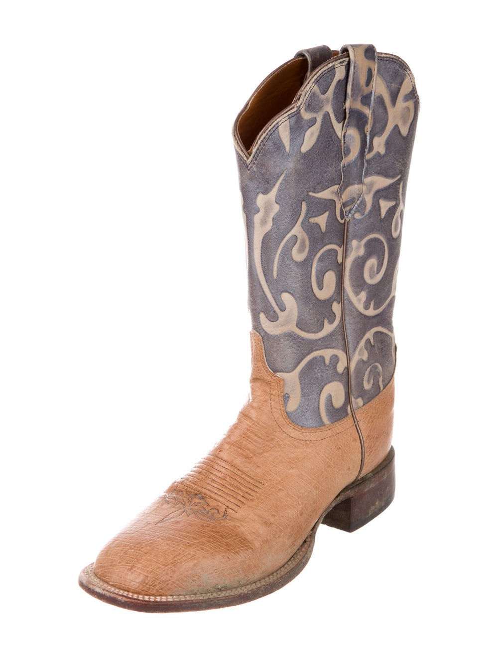 Lucchese Eel Skin Printed Western Boots - image 2