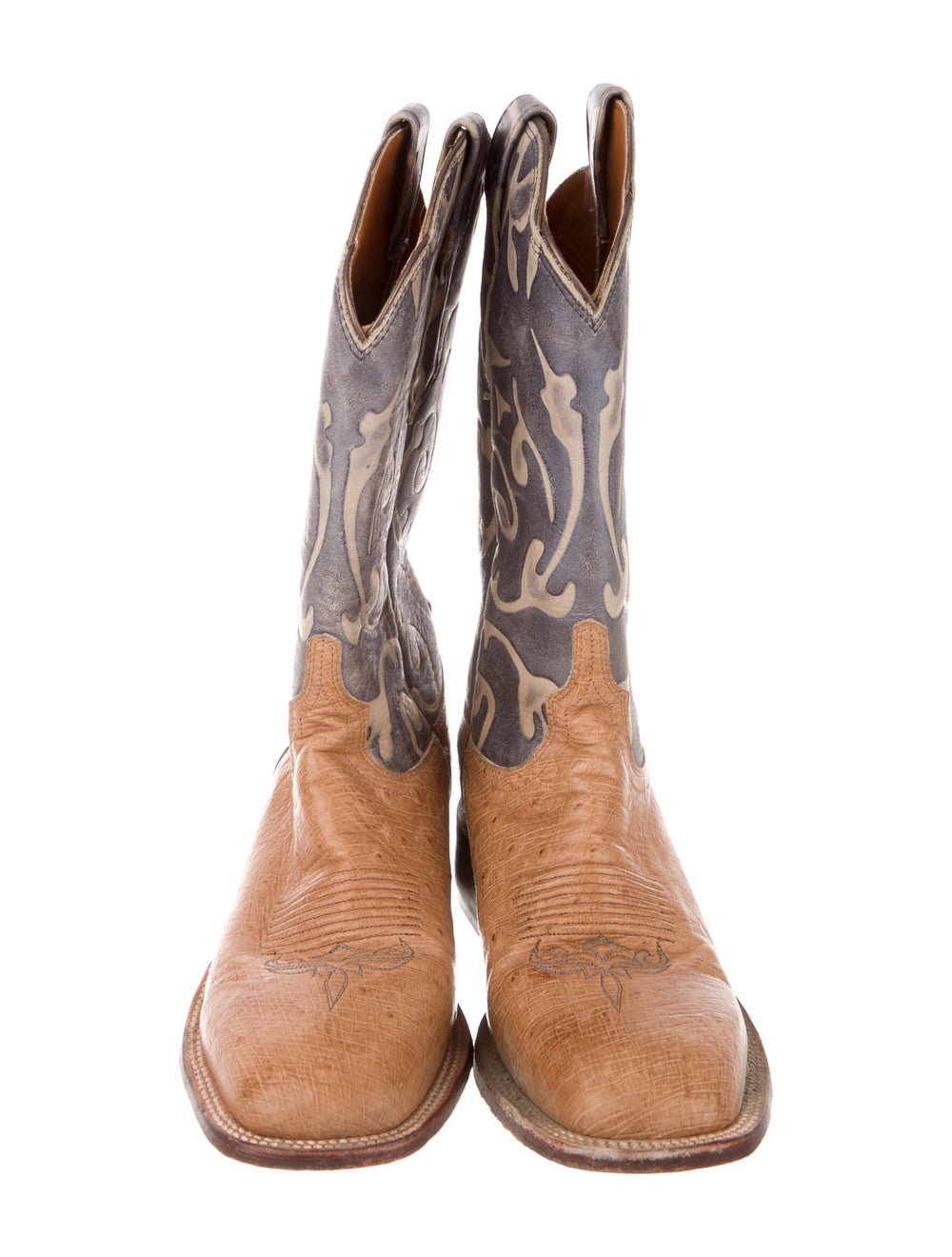 Lucchese Eel Skin Printed Western Boots - image 3