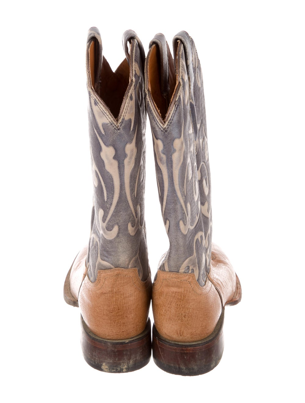 Lucchese Eel Skin Printed Western Boots - image 4