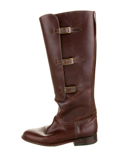 Lucchese Leather Riding Boots Brown