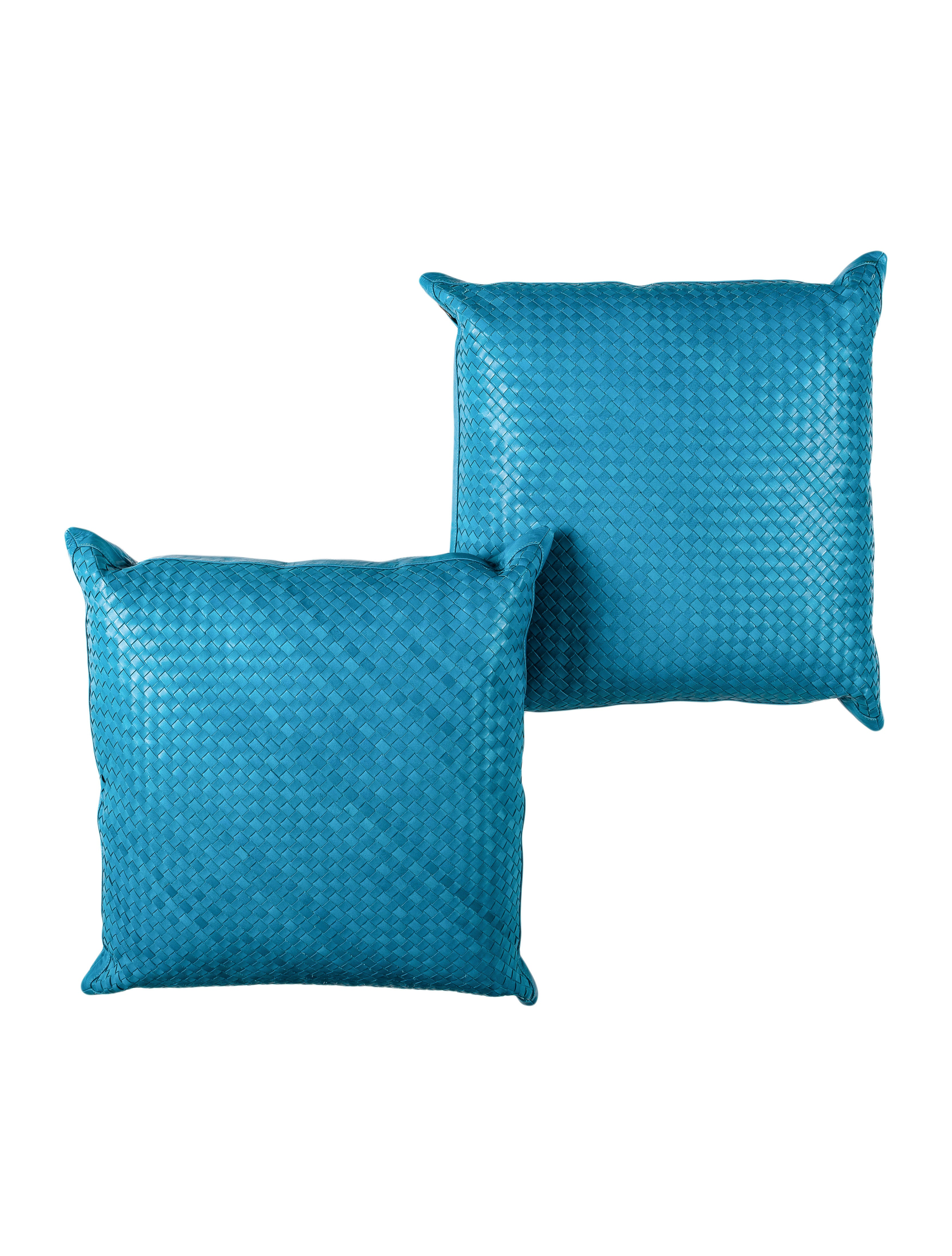 Lance Woven Leather Throw Pillow Set - Pillows And Throws - LCE20006 The RealReal