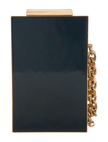 North Stack Teal Gold Clutch