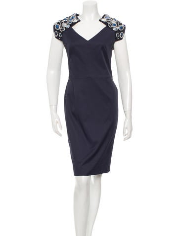 Lela Rose Sheath Dress None