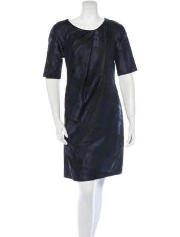 Silk-Blend Jacquard Dress