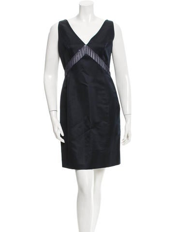 Lela Rose Silk Sheath Dress None