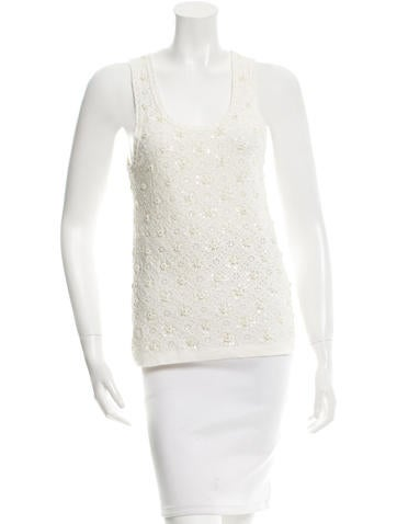 Lela Rose Sequin Embellished Sleeveless Top None