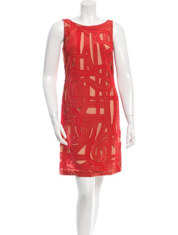 Lela Rose Embellished Sleeveless Dress None