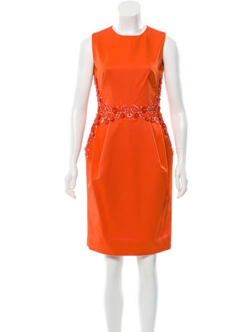 Lela Rose Embellished Sheath Dress None