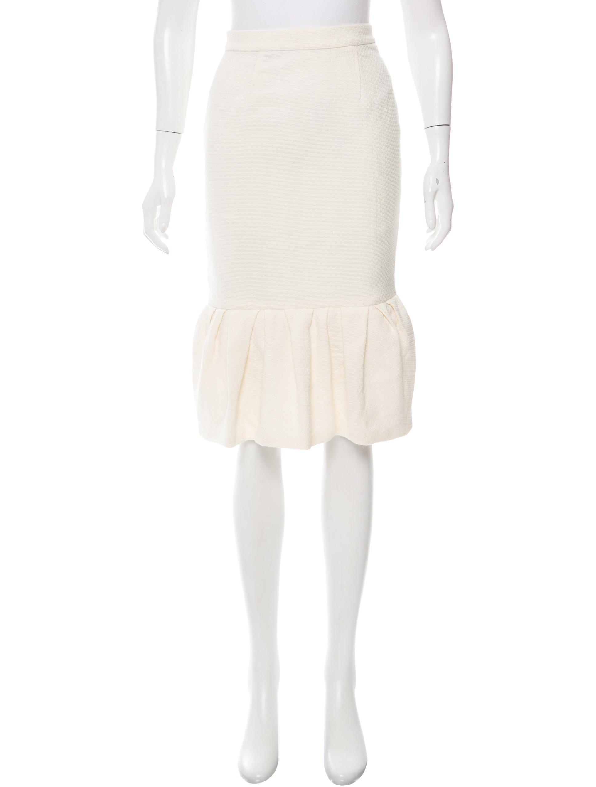 knee length flounce hem skirt clothing