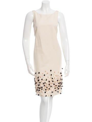 Lela Rose Embellished Shift Dress None