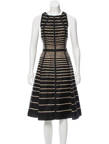 Lela Rose Sleeveless Striped Dress None