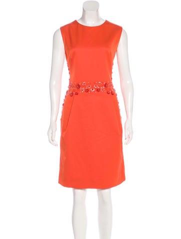 Lela Rose Sleeveless Embellished Dress None
