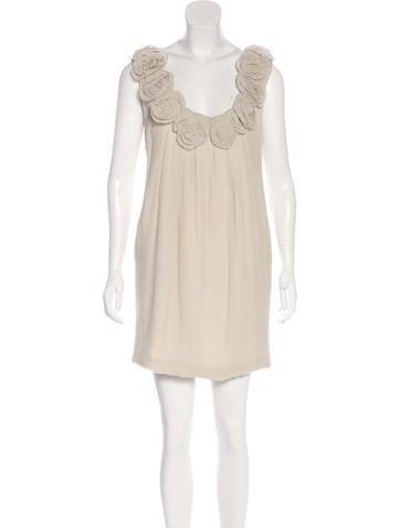 Lela Rose Embellished Silk Dress None