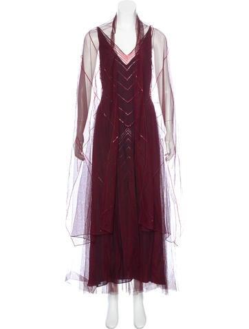 Lela Rose Embellished Tulle Dress None