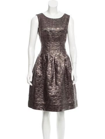 Lela Rose Metallic Knee-Length Dress None