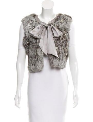 Lela Rose Embellished Fur Vest None
