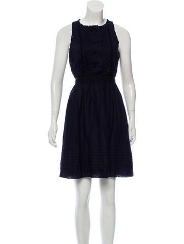 Lela Rose Sleeveless Knee-Length Dress None