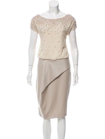Lela Rose Embellished Sleeveless Dress None