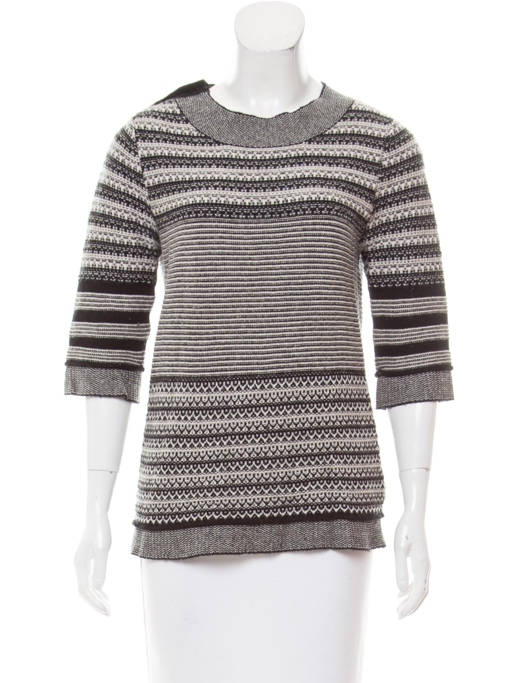 Lela Rose Patterned Cashmere Sweater - Clothing - LEL26294 | The ...