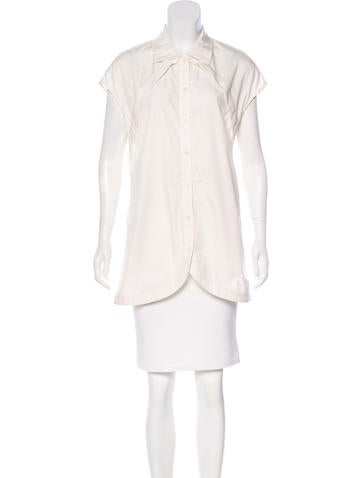 Lela Rose Sleeveless Button-Up Top None