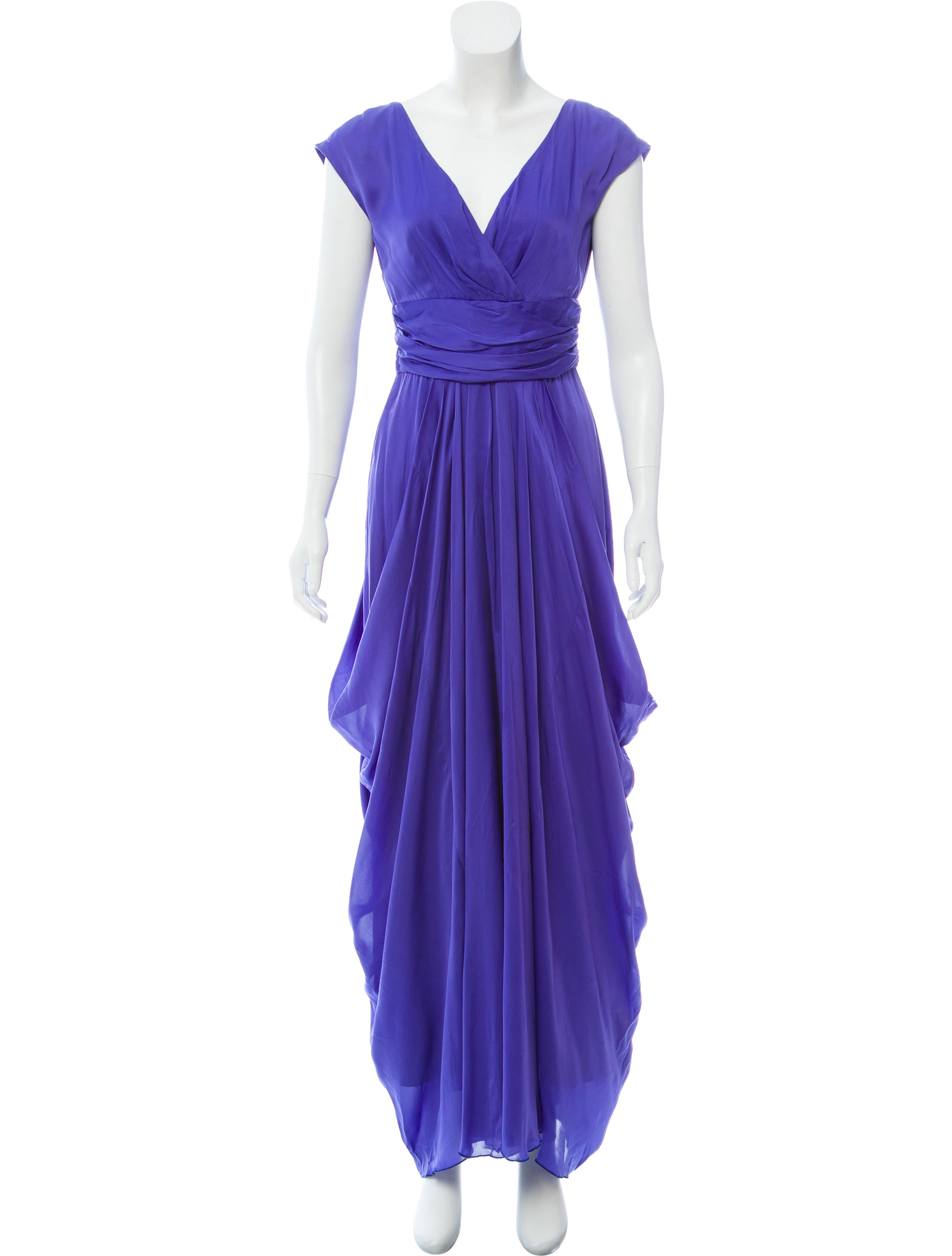 Lela Rose African Violet Draped Gown w/ Tags - Clothing - LEL28508 ...