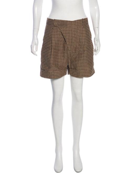 Lela Rose Patterned Tailored Shorts Olive