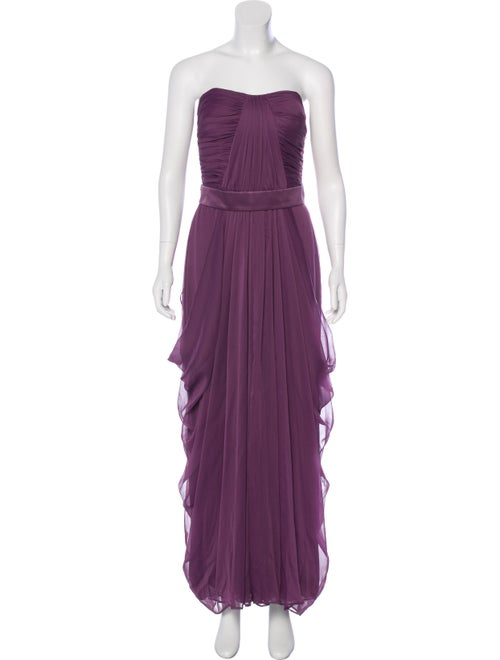 Lela Rose Strapless Evening Dress Rose