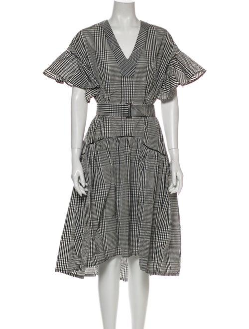 Lela Rose Plaid Print Knee-Length Dress w/ Tags Ro