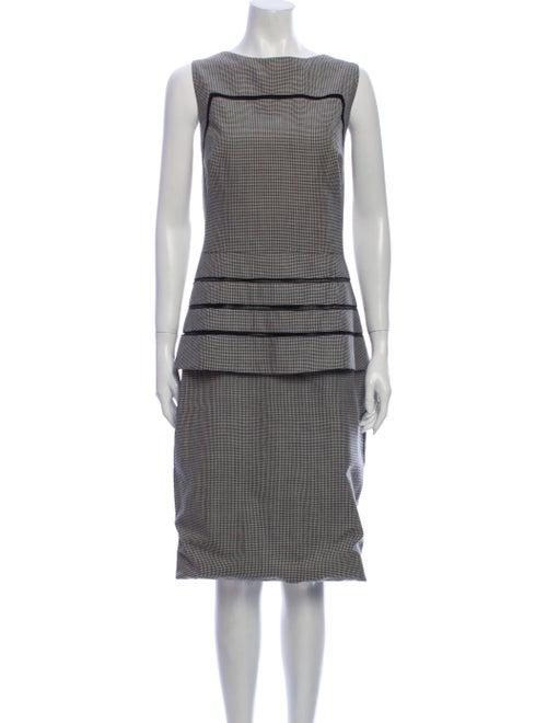 Lela Rose Wool Midi Length Dress Rose