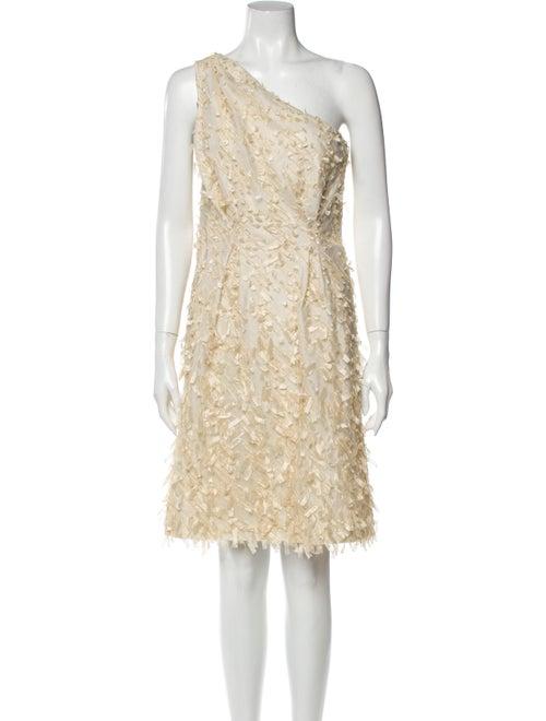 Lela Rose One-Shoulder Mini Dress Rose