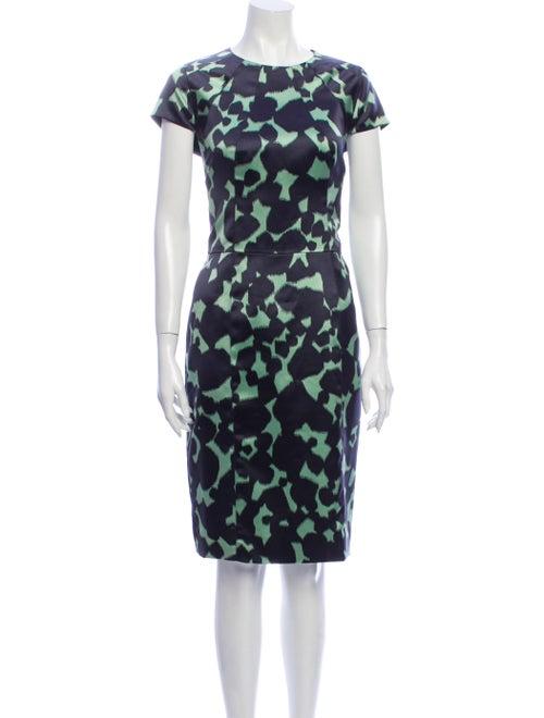 Lela Rose Animal Print Knee-Length Dress Rose