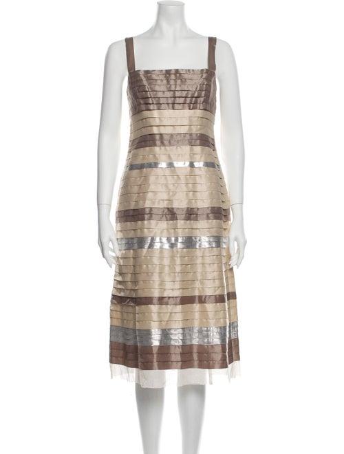 Lela Rose Striped Knee-Length Dress Rose