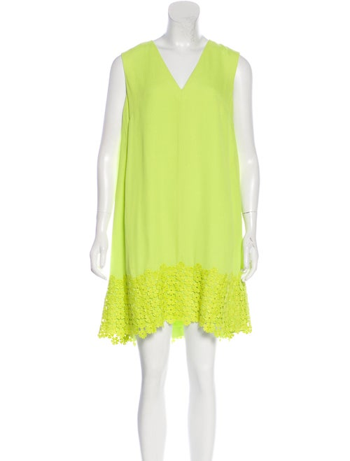 Lela Rose Sleeveless Tent Dress Lime