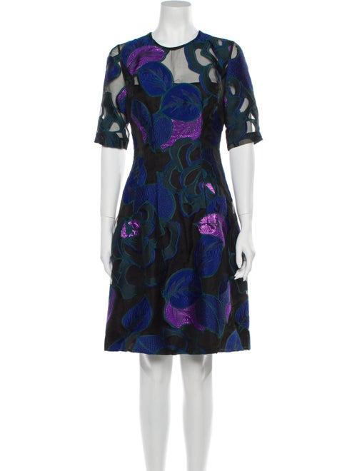 Lela Rose Floral Print Knee-Length Dress w/ Tags R