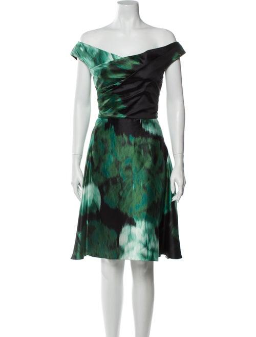 Lela Rose Silk Knee-Length Dress w/ Tags Rose