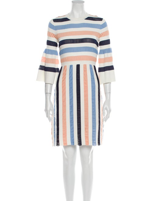 Lela Rose Striped Mini Dress Rose