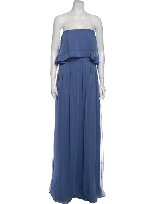 Lela Rose Strapless Long Dress Rose