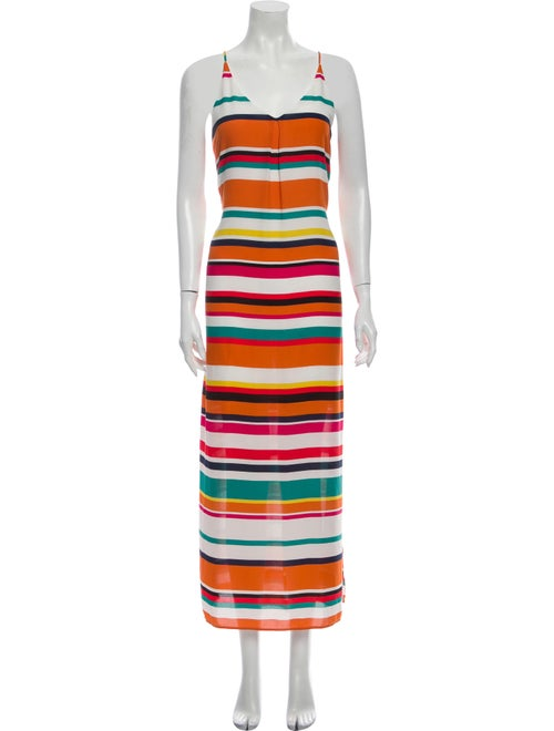 Lela Rose Striped Long Dress Rose