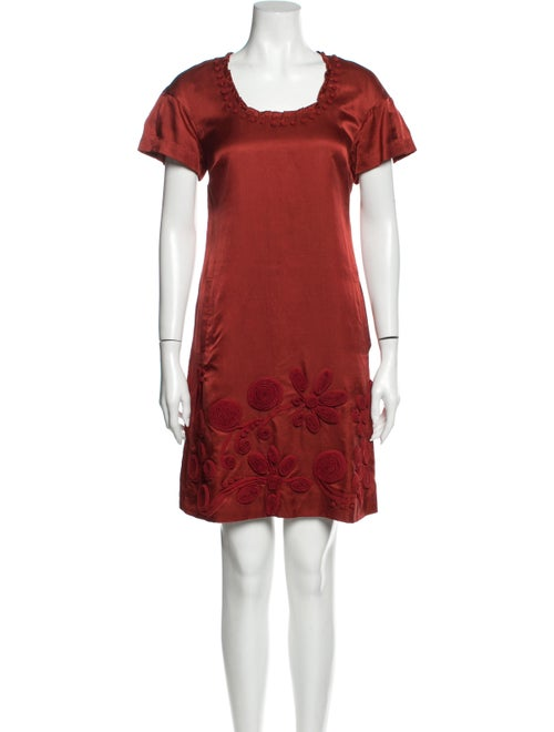 Lela Rose Silk Mini Dress Rose
