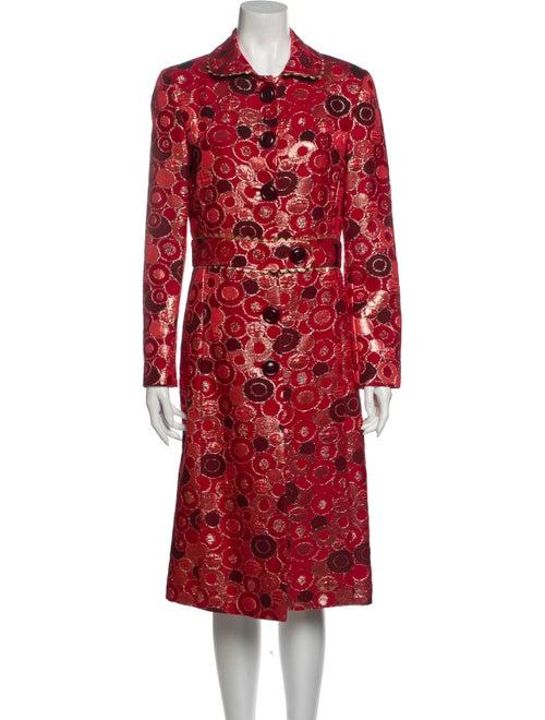 Lela Rose Printed Trench Coat Rose