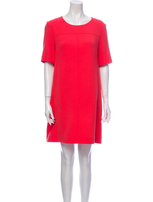 Lela Rose Wool Mini Dress Rose
