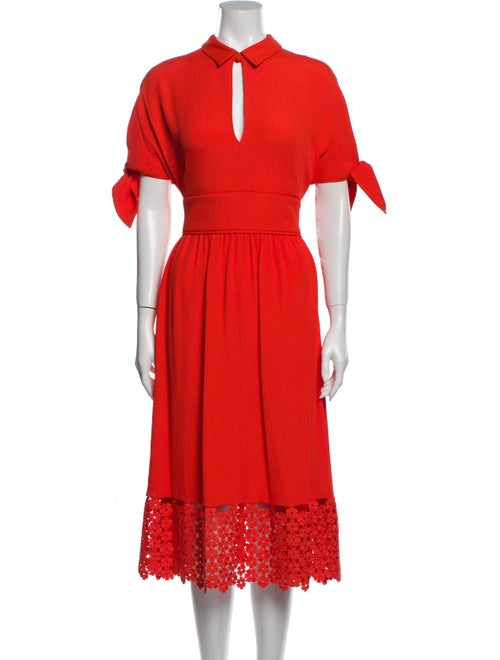 Lela Rose Long Dress Rose