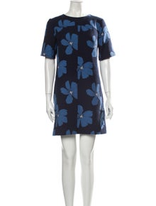 Lela Rose Floral Print Mini Dress