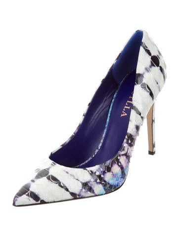 Python Pointed-Toe Pumps w/ Tags