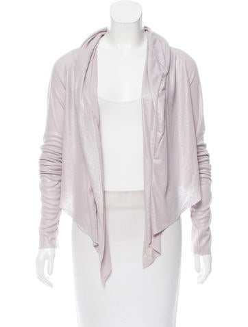 L.G.B. Metallic-Accented Draped Cardigan w/ Tags None