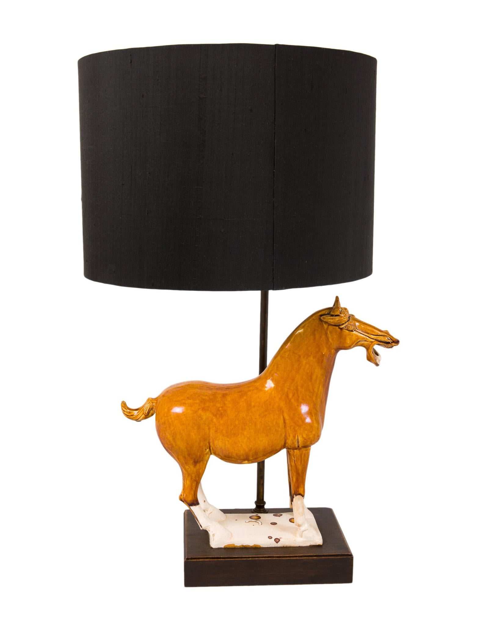 Pair of porcelain horse table lamps lighting lghti20259 the pair of porcelain horse table lamps aloadofball Gallery