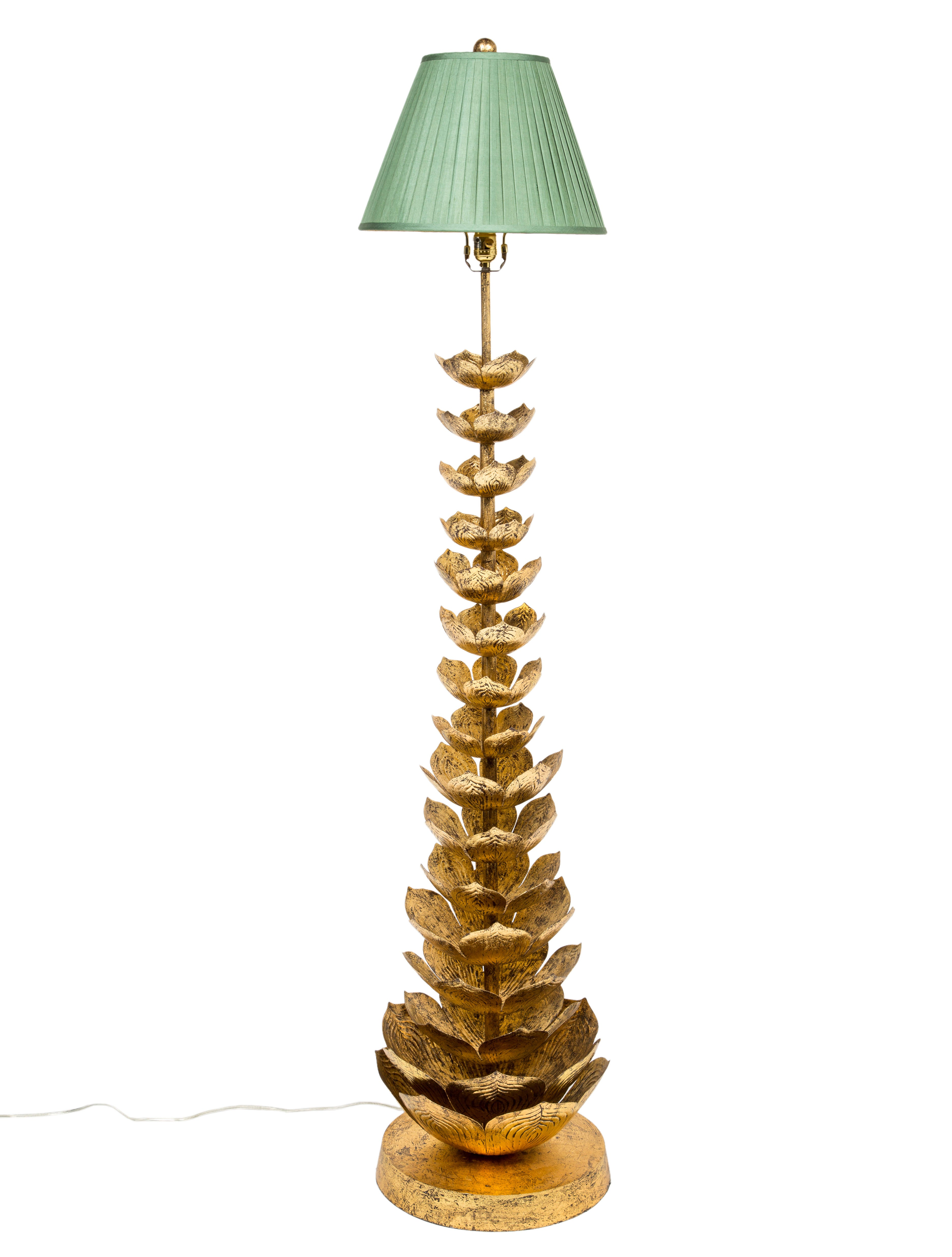 Gilt Lotus Flower Floor Lamp Lighting Lghti20341 The Realreal