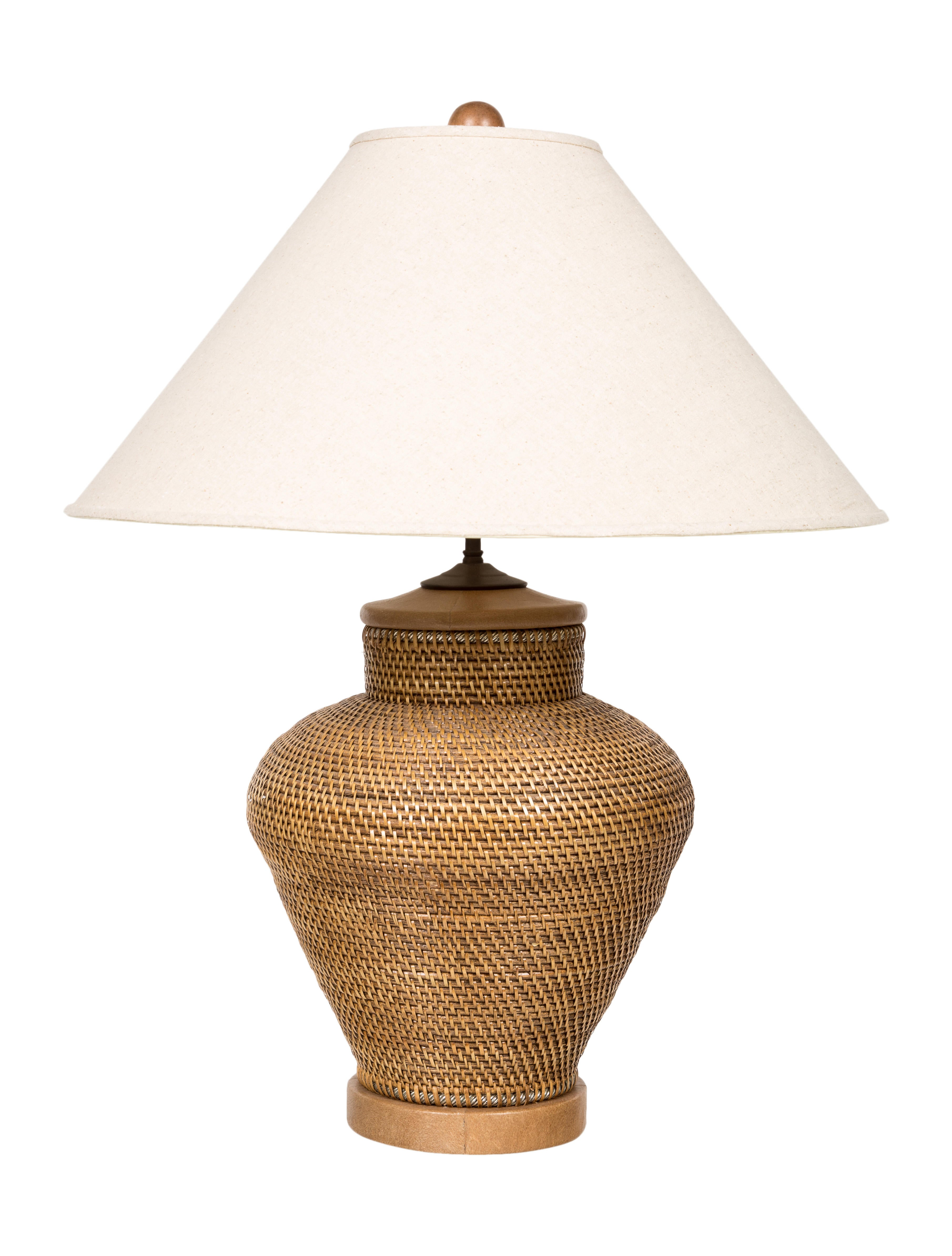 Rattan table lamp lighting lghti20376 the realreal rattan table lamp aloadofball Image collections