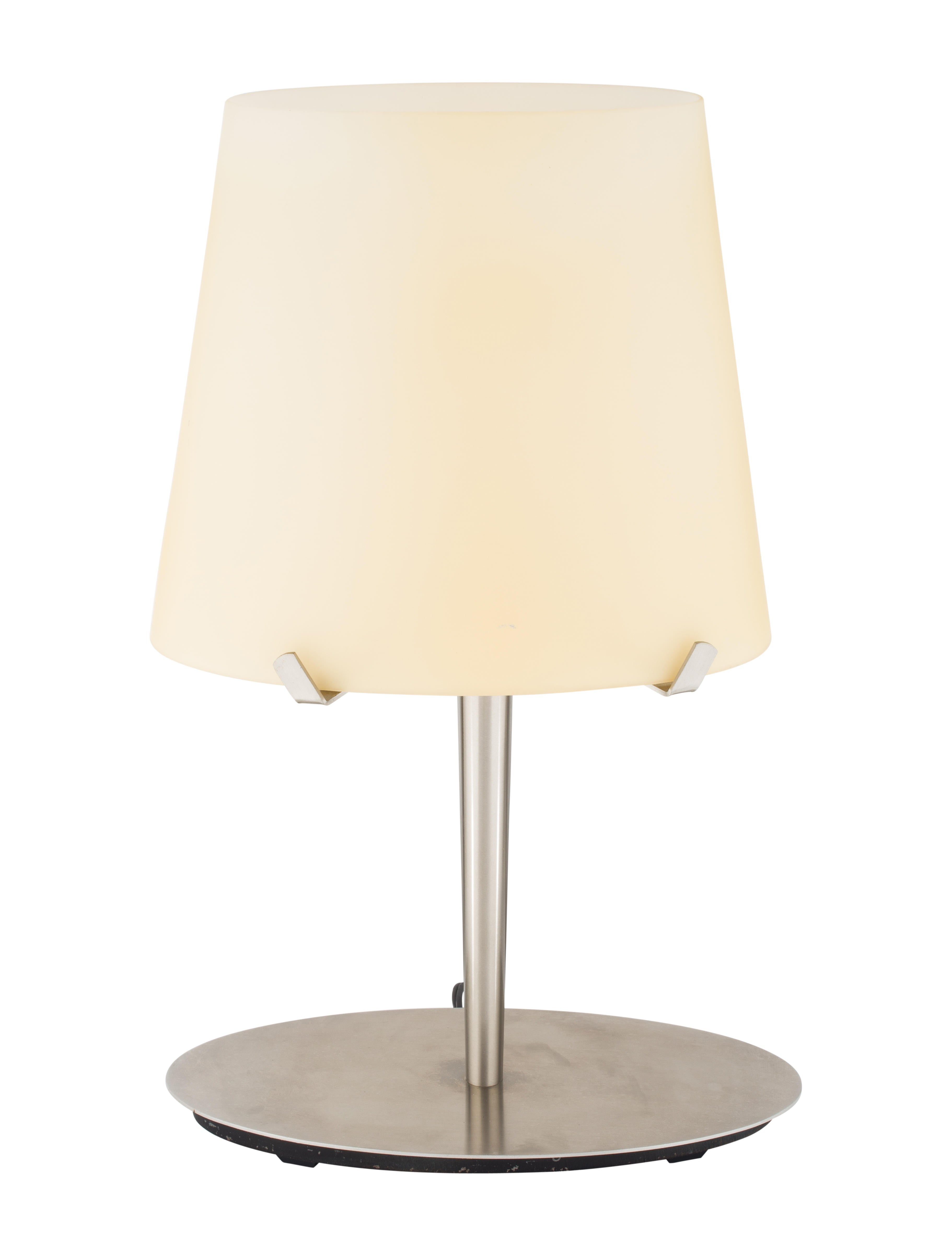 Brushed Steel Frosted Glass Table Lamp Lighting Lghti20393