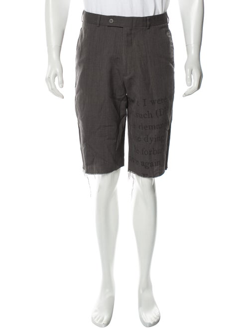 Libertine Graphic Print Shorts grey